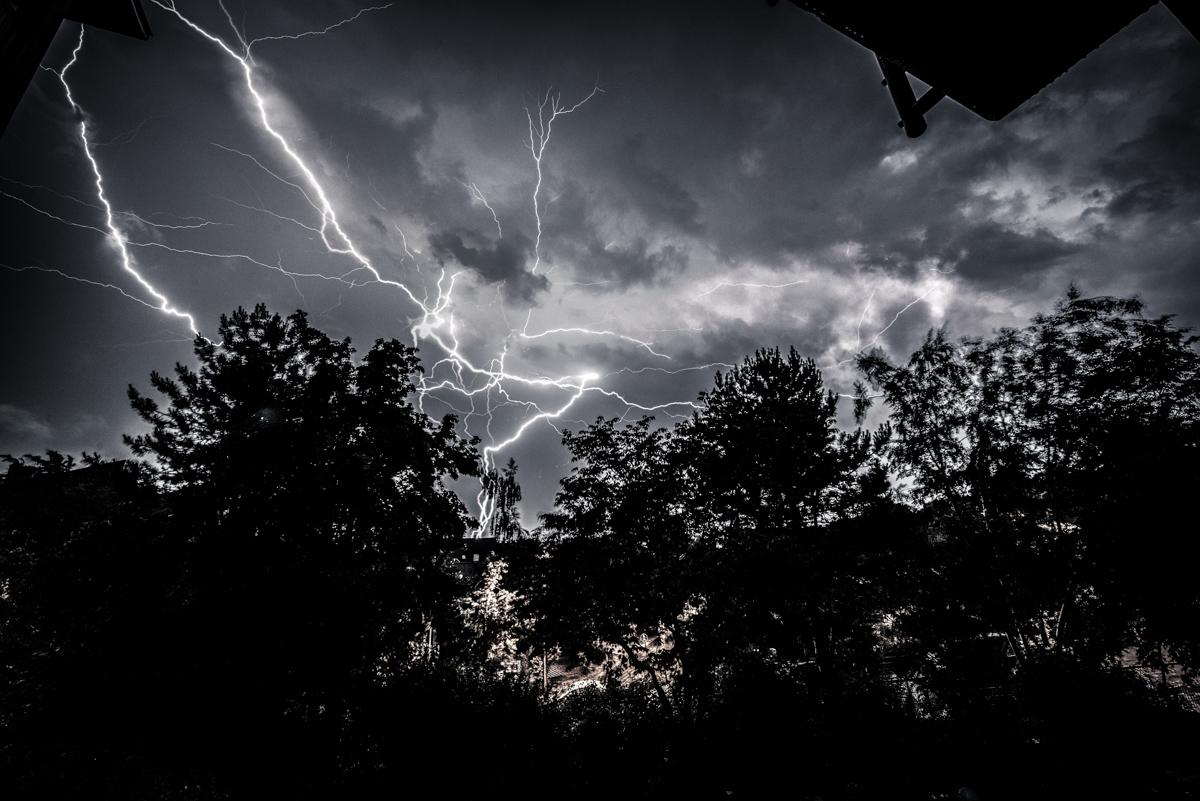 Gewitter Natur Blitz Donner SW Unwetter mystisch